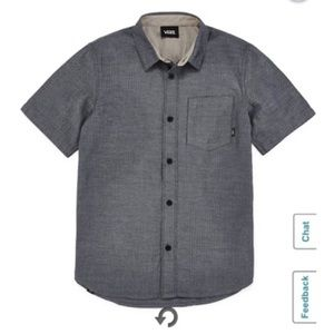 Van off the wall button front pocket shirt